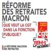Réforme des retraites Macron.  Que veut la CGT dans la Fonction publique ?